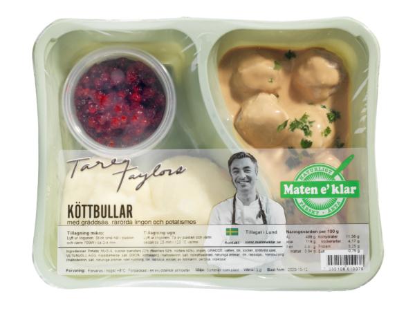 Tareqs Köttbullar med gräddsås, rårörda lingon och potatismos. Det kan inte sägas tydligare. Klassiska köttbullar med en rik gräddsås, egna rårörda lingon och ett rikt potatismos på färsk potatis och svenskt smör.